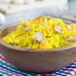 Shaffron rice with mushrooms — Stock Photo