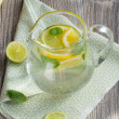 Water with lemon and mint — Stock Photo