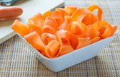 Thinly sliced carrots — Stock Photo
