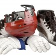 Helmet, leggings, skates — Stock Photo