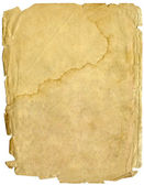 Old sheet of paper, papyrus — Stock Photo