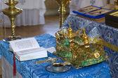 Wedding in the Orthodox Church — Stock Photo