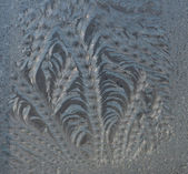 Frosty texture on glass — Stock Photo
