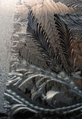 Frosty texture on glass — 图库照片