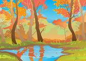 Orange landscape — Stock Vector