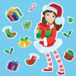 Santa girl — Stock Vector #13911727