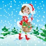 Santa girl — Stock Vector #13911795