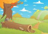 Fall landscape — Stock Vector