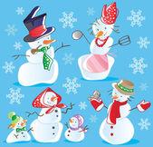 Snowmans — Vettoriale Stock