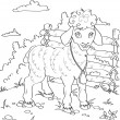 Sheep contour — Vector de stock #14069442
