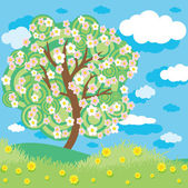Spring tree — Stock Vector