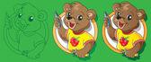 Bear artist — Stock Vector