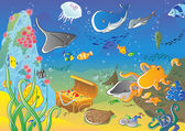 Undersea background — Stok Vektör