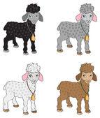 набор овец — Cтоковый вектор