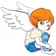 Little angel - Stock Vector