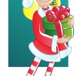 Santa girl — Stock Vector #14103959