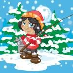 Winter fishing — Stock Vector #14104050