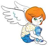 Little angel — Stock Vector