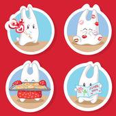 Bunny in love — Stock Vector
