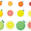 Citrus — Stock Vector