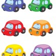 Set of cars isolated on white background — Stock Vector