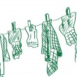 Vector de stock : Washing