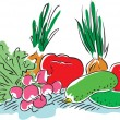 Royalty-Free Stock ベクターイメージ: Vegetables