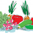 Royalty-Free Stock Vectorielle: Vegetables