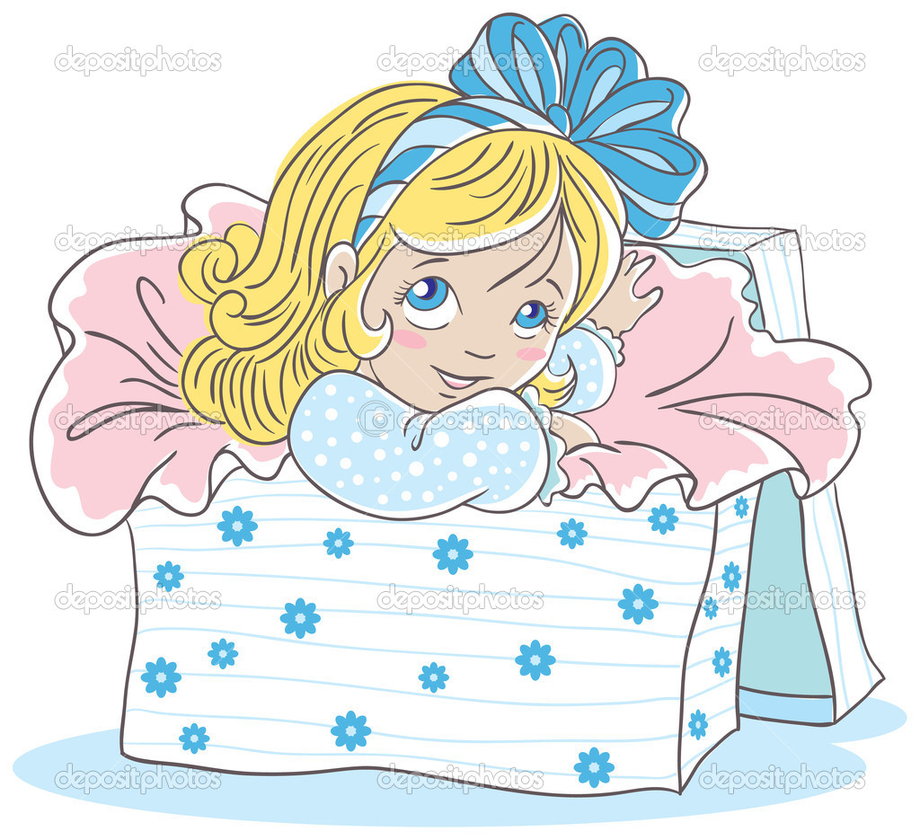 Girl in box — Stock Vector #14115219