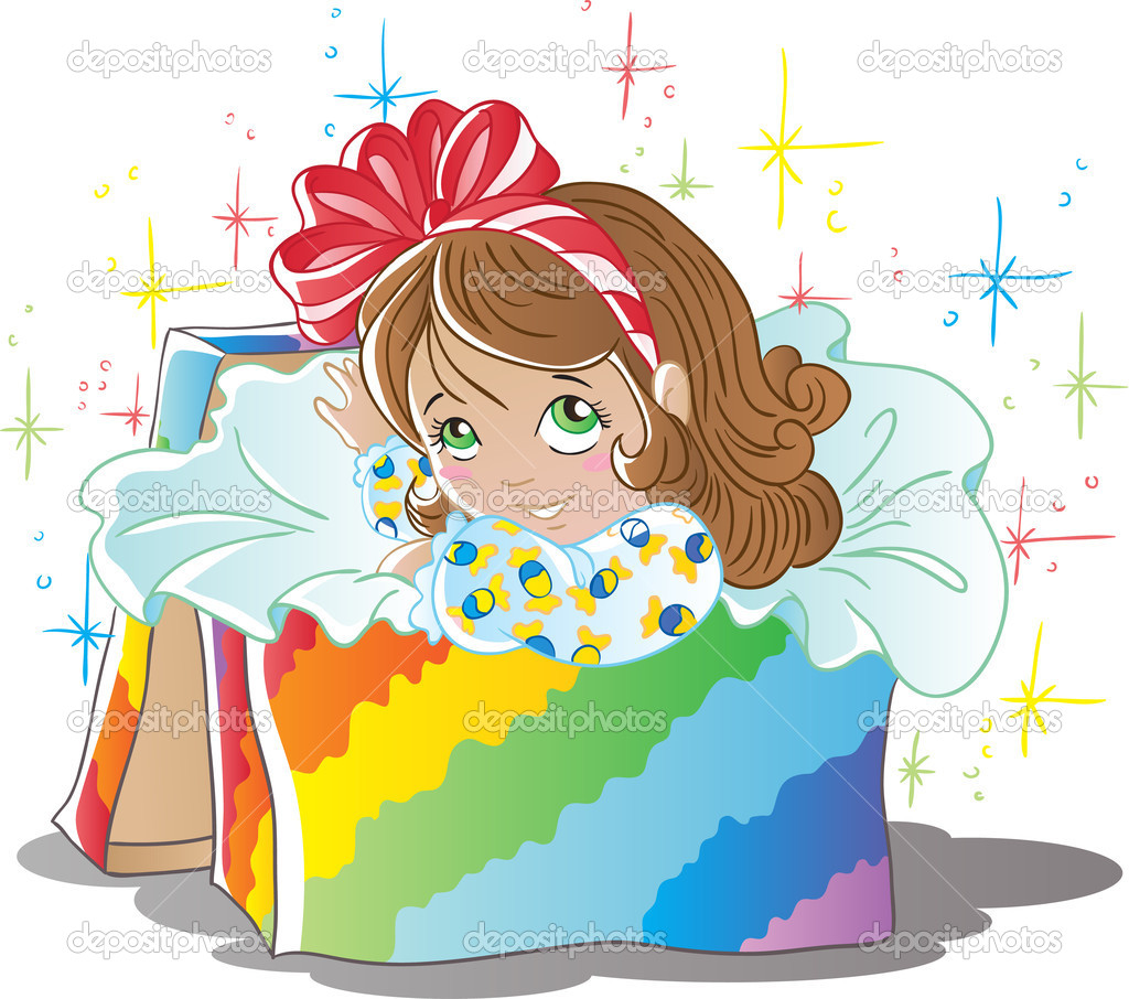 Girl in box  Stock Vector #14115233