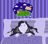 Insomnia — Stock Vector