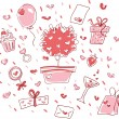 Valentine's day Set — Stock Vector