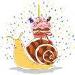 Birthday snail — Stock Vector #19625555