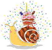Birthday snail — Stock Vector