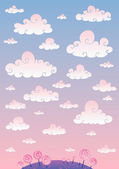 Cloud sky — Stock Vector