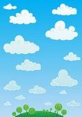 Cloud sky — Stock Vector