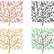 Square trees — Stock Vector