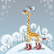 Winter giraffe — Stock Vector #30554217