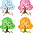 Season Trees — Vector de stock #36633873