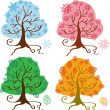 Seasons tree — Stock Vector