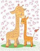 Giraffes — Stock Vector