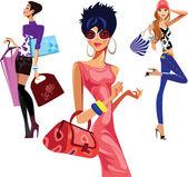 Shopping women — Stock Vector