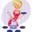 Stock Vector: Glamour chef