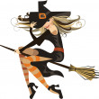 Stock Vector: Witch . halloween