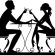 Romantic date — Stockvectorbeeld