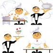 Animated characters of a workers of kitchen — Stock Vector