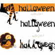 banners with Halloween text — Stockvectorbeeld