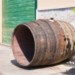 Stock Photo: Wine cask washed