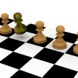 Brave pawn - Stock Photo