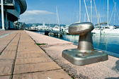 Bollardt on the port of loano — Stock Photo